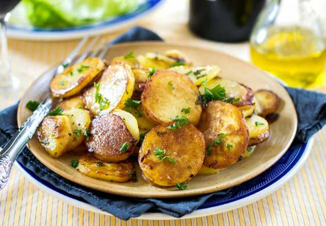 how to cook potatoes in goose fat