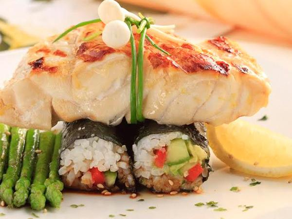 ... Grilled Kingfish with Vegetable Nori Rolls recipe - Best Recipes